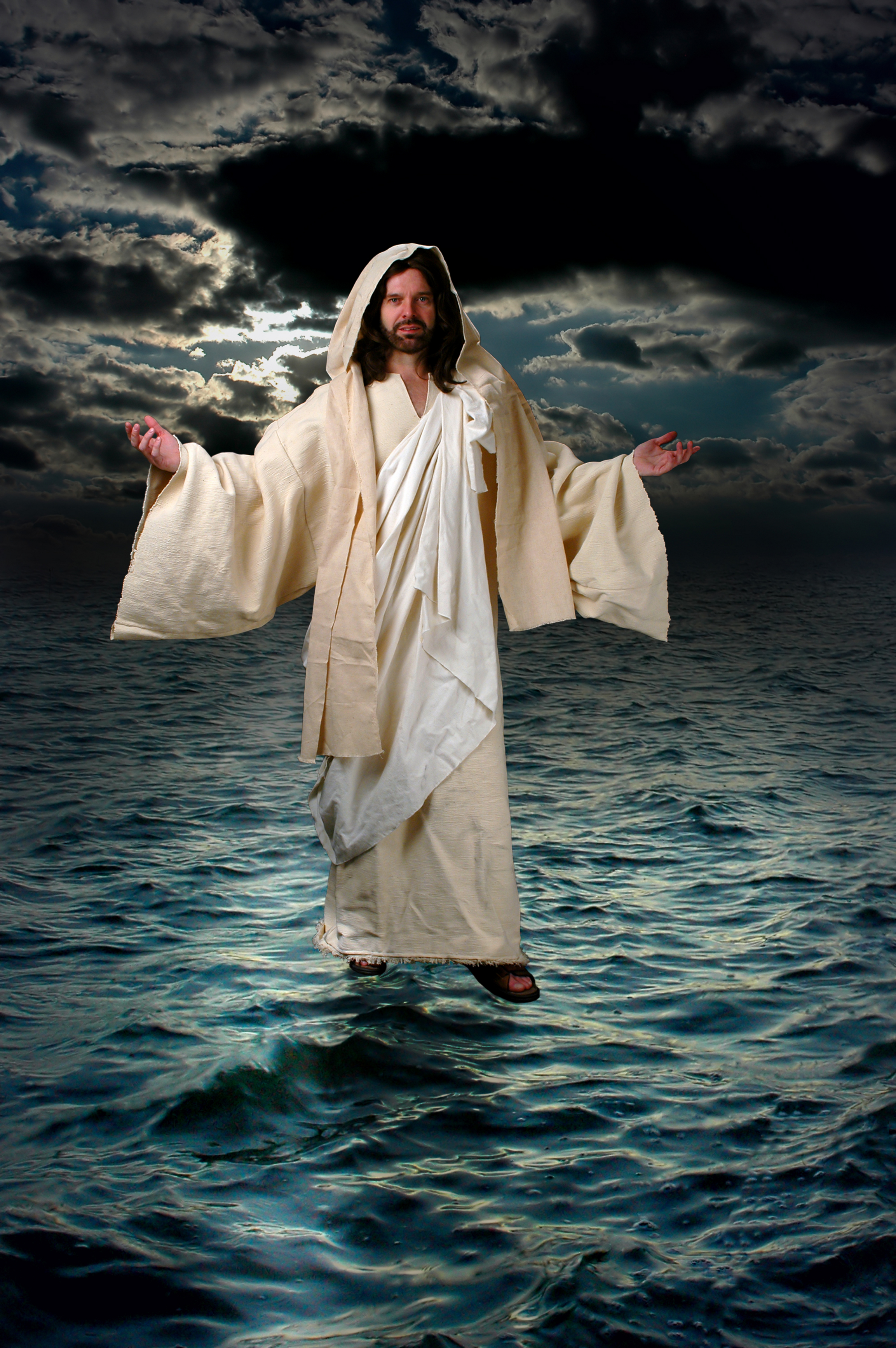 jesus walking on water The baptism of jesus is described in the gospels of matthew, mark and luke  john's gospel does not directly describe jesus' baptism  have invented an  episode in which jesus changes his mind and comes to accept someone else's  plan.